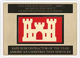 Safe Subcontractor of the Year Award